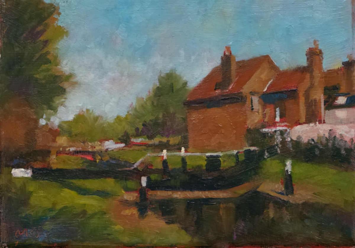 Dublin Grand Canal Scene. SOLD