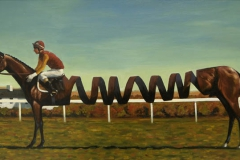 070128 Slinky Lad Oil Painting by Kevin McSherry