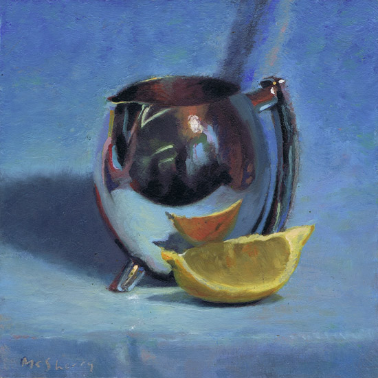 Silver jug and lemon. SOLD