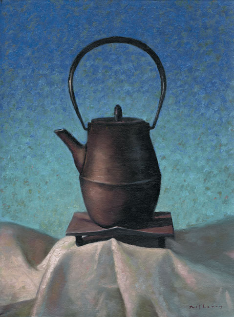 Japanese Teapot on Linen.