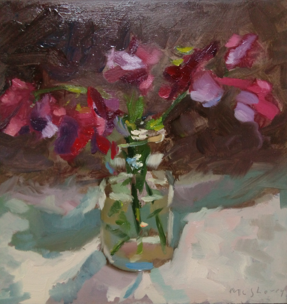 Sweetpeas. SOLD