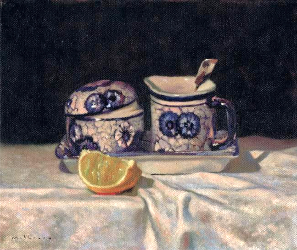 French Tea Set on Linen.