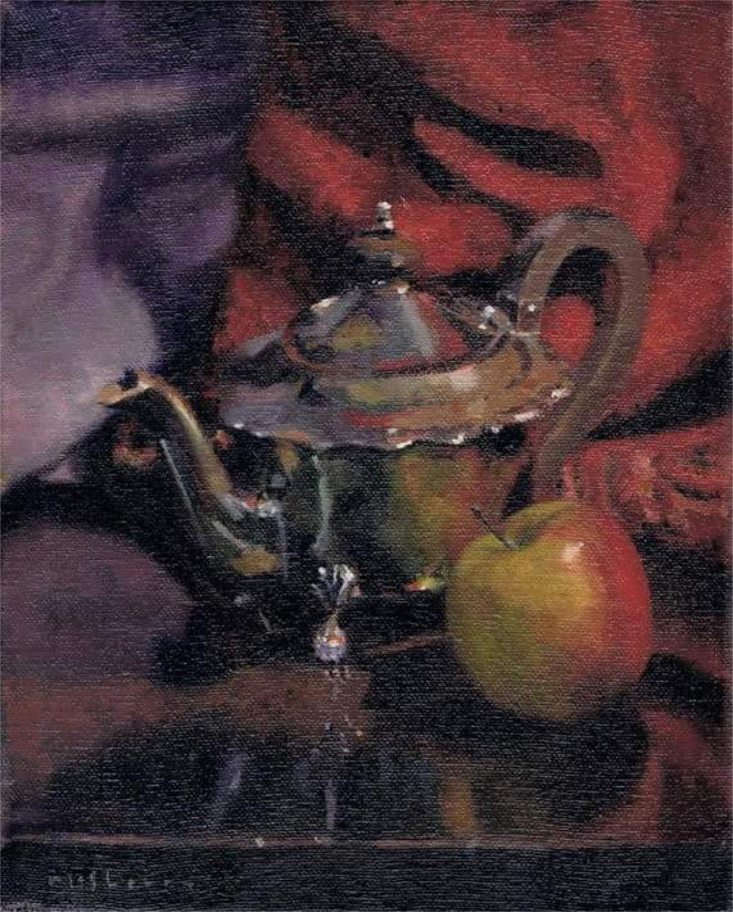 Teapot and Apple Study