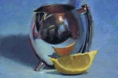 Silver jug and lemon. SOLD
