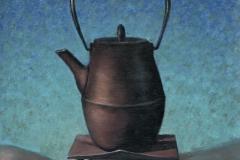 Japanese Teapot on Linen.