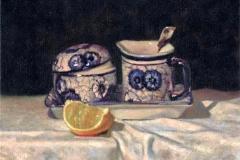 French Tea Set on Linen.