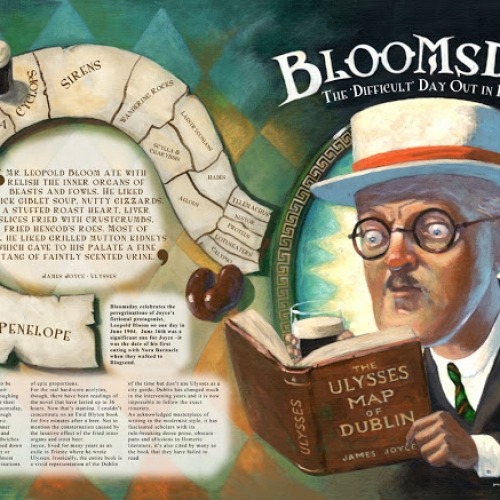 Kevin McSherry James Joyce Bloomsday book cover spread