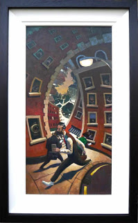 The City. Acrylics on canvas painting in frame for le Louvre open submissions show.
