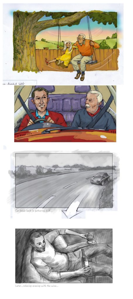 Storyboard panels kevin mcsherry illustration commercial