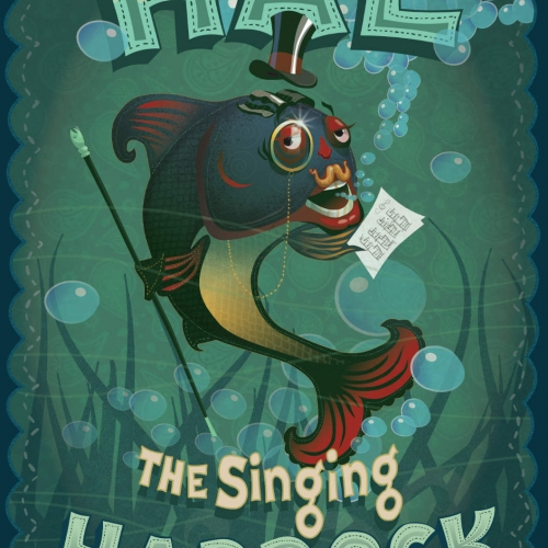 Hal the Singing Haddock Self-promotional vector illustration