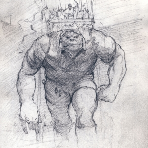 Rugby Troll Kevin McSherry sketchbook