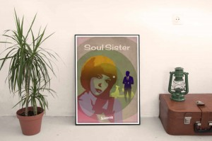 SC180130:w Soul Sister on wall